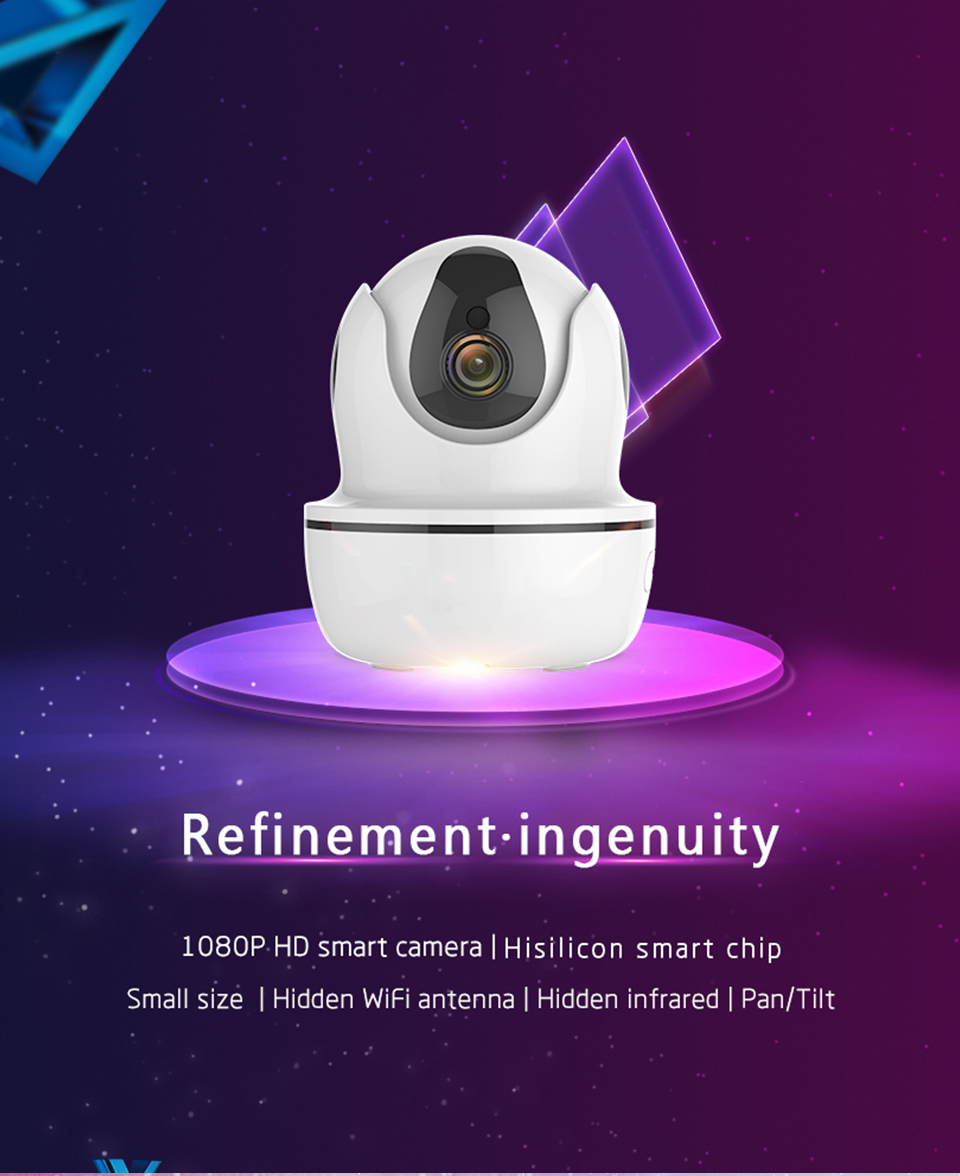 1080P HD 2MP Wireless WiFi IP Camera P/T IR-CUT Night Vision P2P Webcam Camcorder Video Recorder For Smart Home Controller