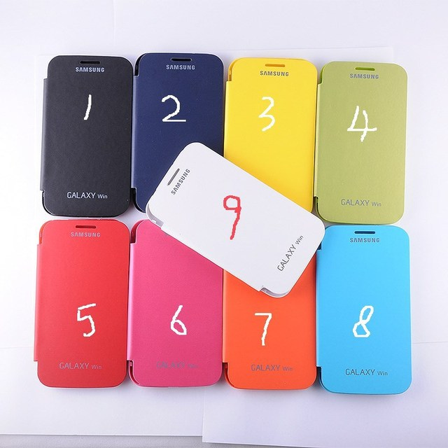 1pc Cell phone case For Samsung Galaxy Win I8552 flip leather cover battery housing back case freeshipping