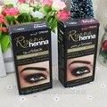 Profesional de maquillaje de Cejas Pestañas Crema Natural de la Planta de Henna Color Mehendi Conjunto Tinte Tinte de Cejas Marrón Negro