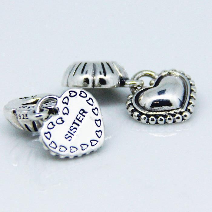 e2e6f588a FL064 1pcs/lot Fits Pandora Style Bracelets My special sister silver dangle  Charms 925 Sterling Silver Pendants Wholesale