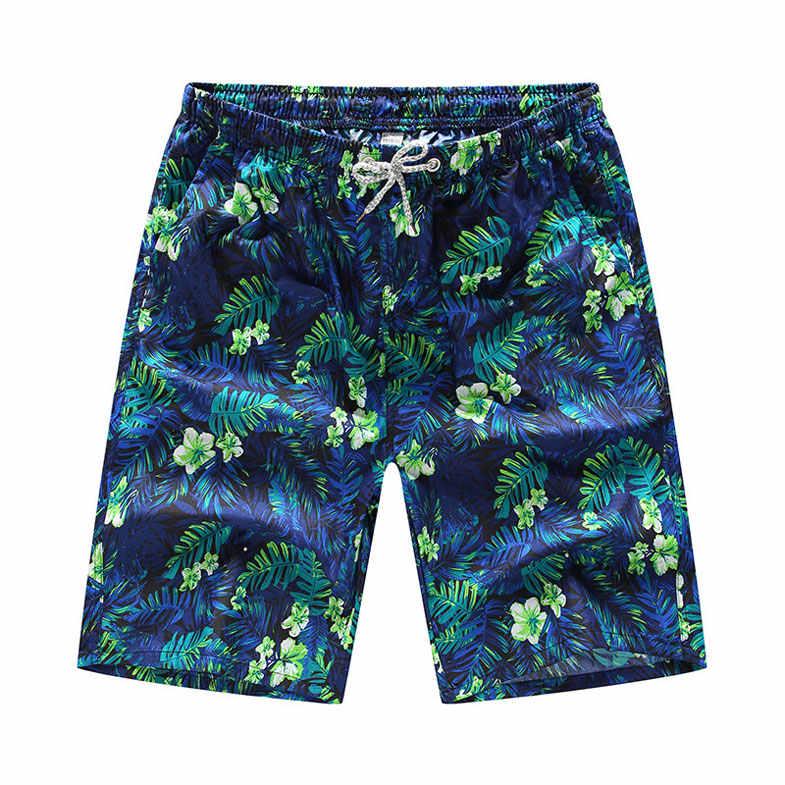 Летние модные мужские женские пляжные шорты с 3D принтом листьев набор для пары шорты Повседневная быстросохнущая пляжная одежда с карманами Приморский Гавайский