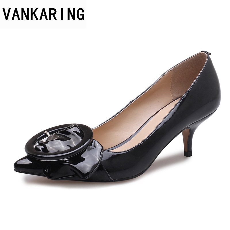 VANKARING women pumps new 2018 spring summer sexy high heels pointed toe shoes woman dress party wedding office ladies pumps moonmeek new arrive spring summer female pumps high heels pointed toe thin heel shallow party wedding flock pumps women shoes