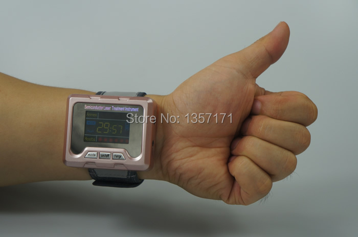 Laser treatment wrist watch 650nm laser therapy device for family use
