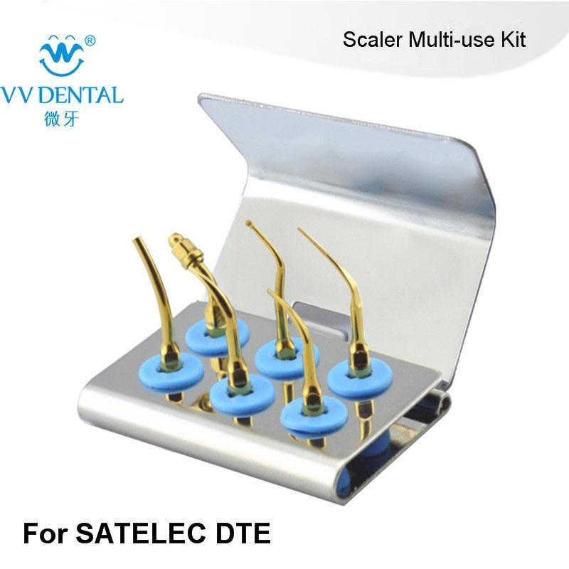 2 PCS SMUKG Dental Scaler Multi-use Kit FOR SATELC,DTE,GNATUS,NSK MICODONT SEL WITH SERILIZER BOX FIT autoclavable universal nmukg scaler multi use kit gold for nsk varios series