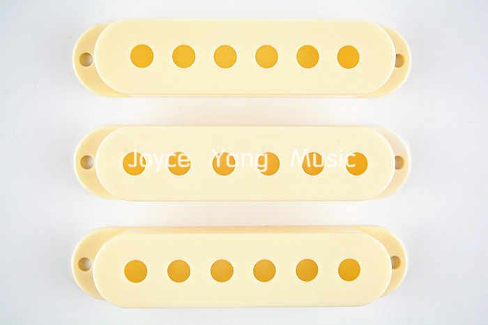 Niko envelhecido branco single coil pick up covers para fender strat estilo guitarra elétrica atacado frete grátis