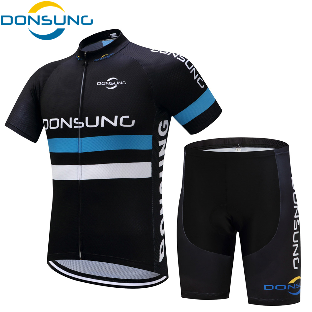 DONSUNG Cycling Jersey Men 2017 Summer Cycling Clothing Breathable Sweat Quick Drying Men Bicycle Wear Short Sleeve Cycling set