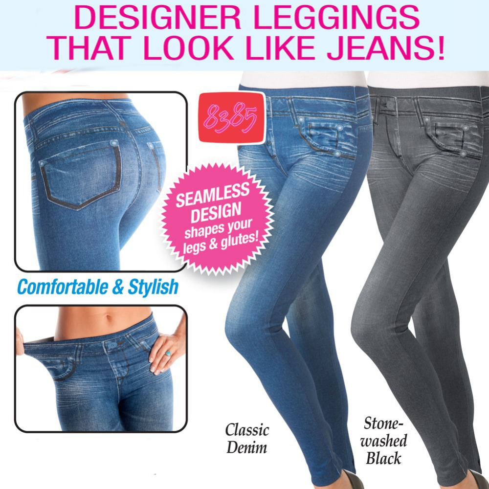 Seamless Designer Leggings that Look Like Jeans Sexy Soft ...