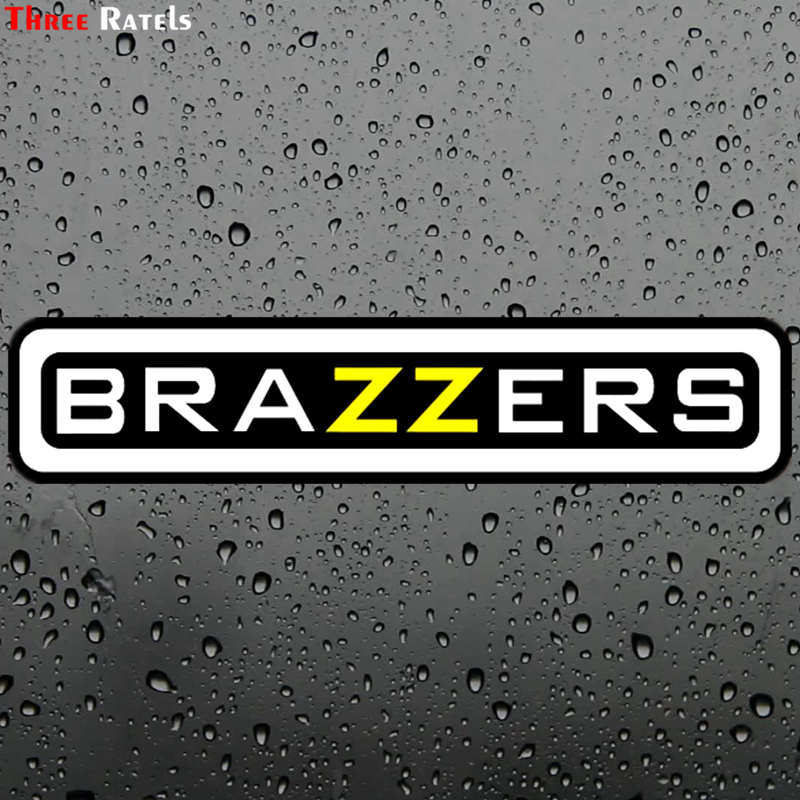 Three Ratels TZ-1384 4.9*22.5cm 10x46.3cm Car Sticker Brazzers Funny Car Stickers Auto Decals Removable