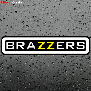 TZ-1384 4.9*22.5 cm brazzers funny car stickers auto decals removable