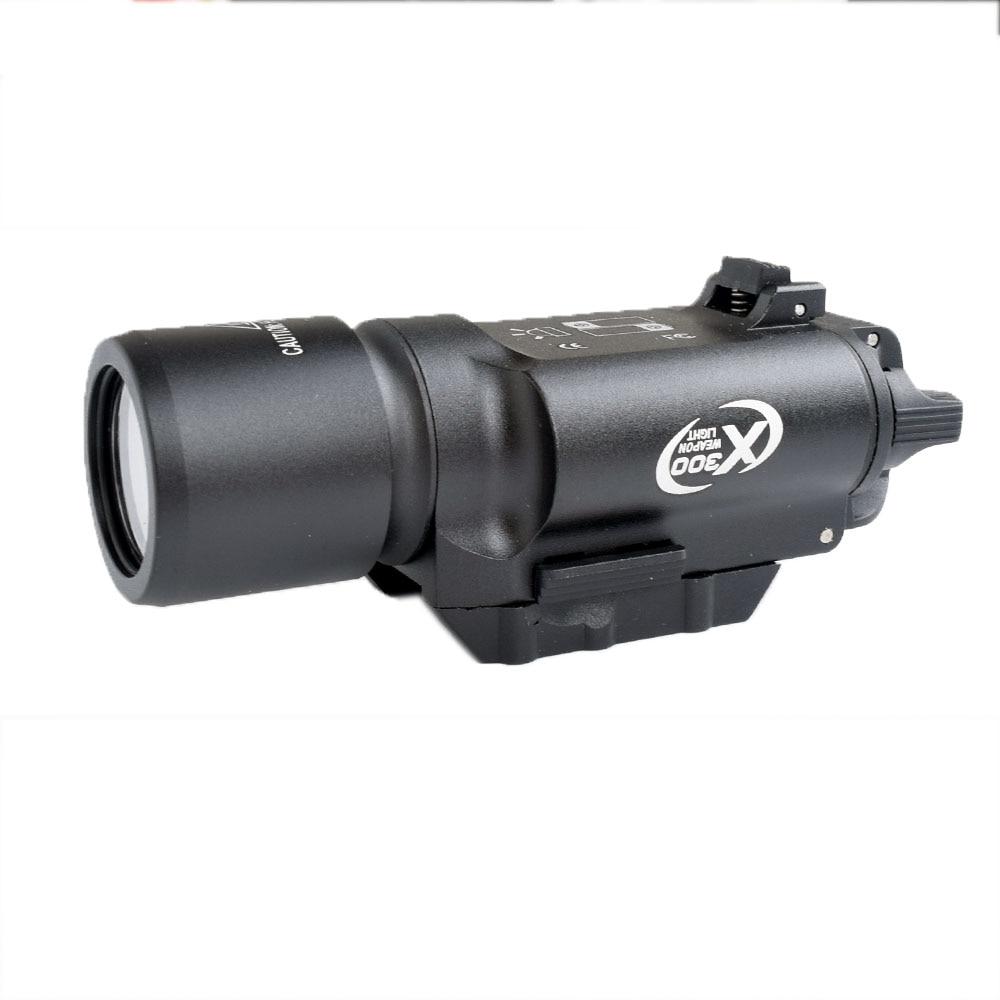 WIPSON tactique X300 lampe de poche étanche arme pistolet à lumière pistolet lanterne fusil Picatinny tisserand monture pour la chasse - 2