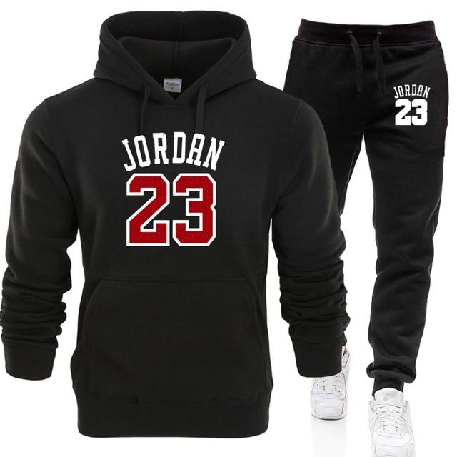 704abce1111 Hot 2019 New JORDAN 23 Letter Print Sweatshirt+Sweatpants Men Hoodies  Fashion Suit Hoody Men