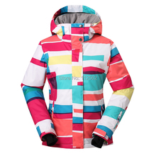 Gsou womens ski jackets snowboard suit for women skiing coat snow clothing chaqueta esqui mujer