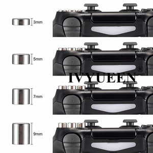 Image 5 - IVYUEEN Magnetic Metal Bullet Buttons for Dualshock 4 Playstation 4 PS4 Pro Slim Controller Thumbsticks Grips D pad Accessories