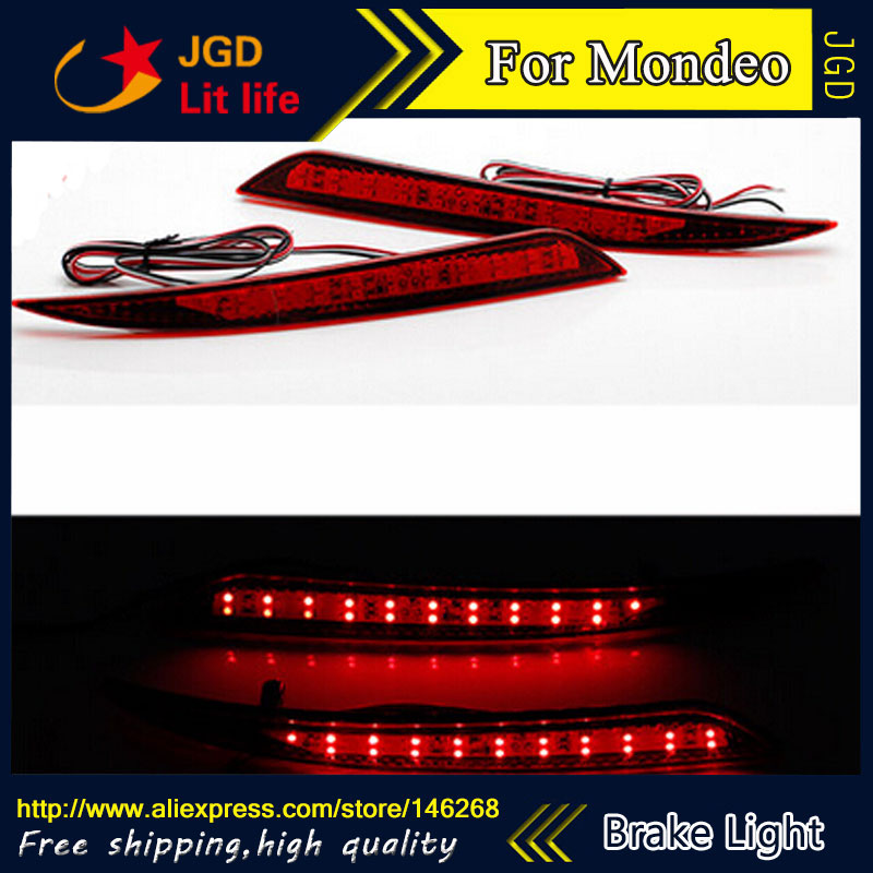 Free shipping Tail light parking warning rear bumper reflector for Ford Mondeo 2014-2016 Car styling free shipping tail light parking warning rear bumper reflector for ford mondeo 2010 2012 car styling