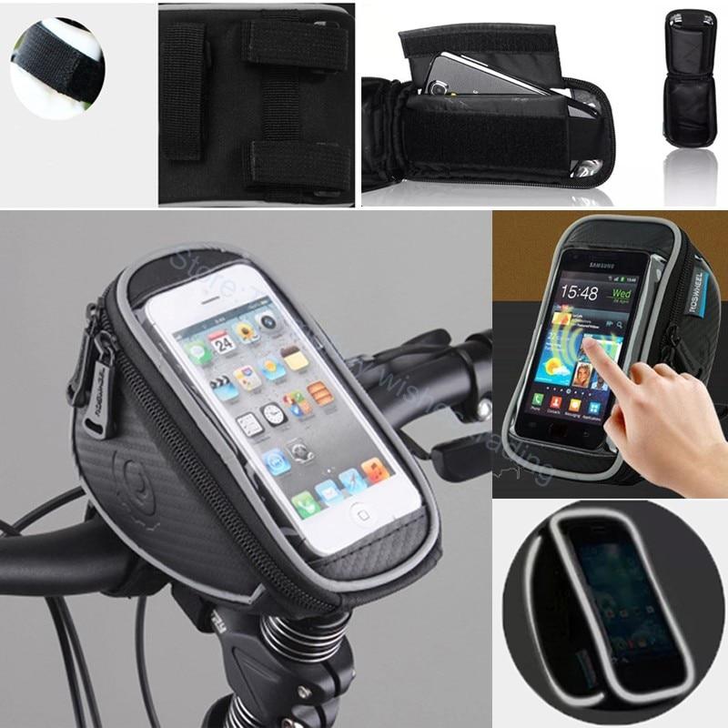 """imágenes para 5.5 """"pulgadas bicicleta bolso impermeable del teléfono celular móvil del sostenedor del soporte para samsung galaxy s8/plus/s7/s6/s5/leeco/xiaomi mi6/redmi note 4/3"""
