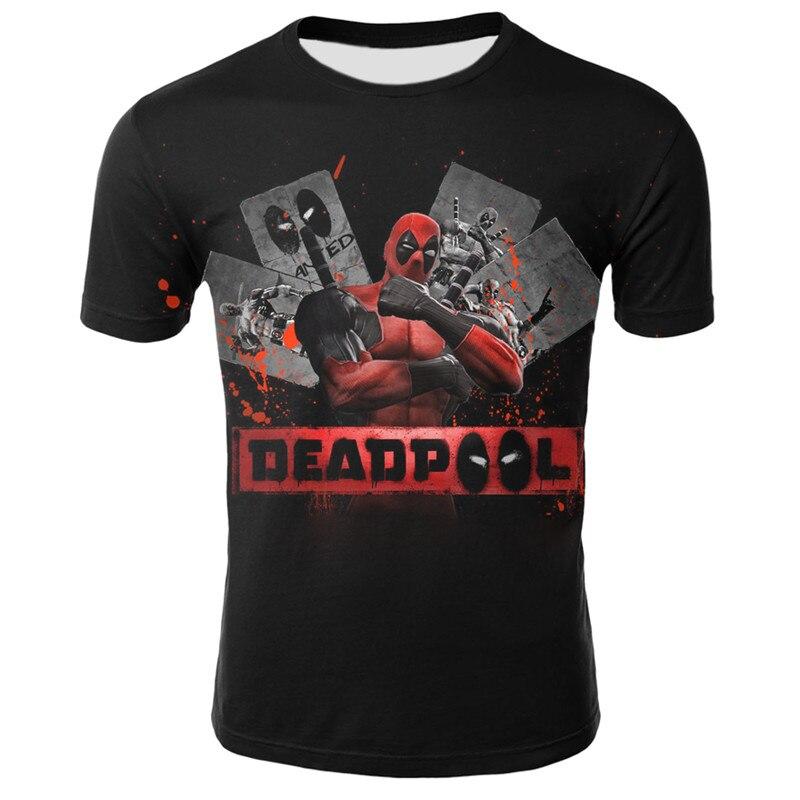 New Arrive American Comic Superhero Badass Deadpool T-shirt Men's Women's Cartoon Character 3D T-shirt Fun Casual Top  XXS-4XL