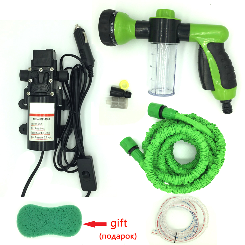 12v car wash device car washing machine cleaning pump high pressure water pump dual silent