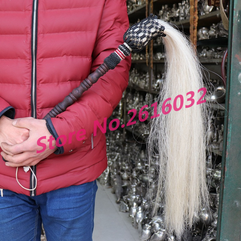 Old Chinese cultural heritage props horsetail whisk Taoist weapons
