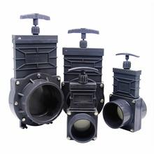 Válvula de compuerta de aguas residuales DN32/DN40/DN50/DN65/DN80 UPVC, 1,5 pulgadas/2 pulgadas/2,5 pulgadas/3 pulgadas/3,5 pulgadas, diseño Extensible
