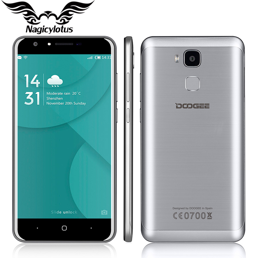 Original Doogee Y6 5 5 HD MTK6750 Octa Core 4G LTE Mobile Phone Android 6