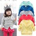 0-3Y Baby Kid Clothing V-neck Cardigan Thick Cotton Jacket Coat 2016