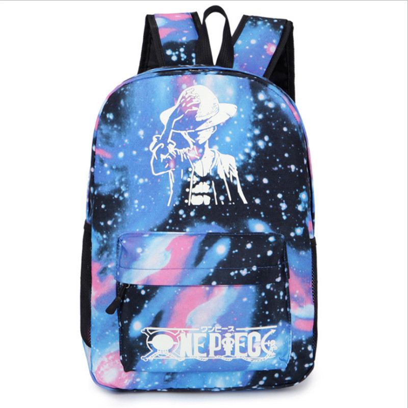 Hot sales Luminous backpack Cartoon pattern high quality 600D Waterproof Oxford cloth outdoor backpack travel street adult bags