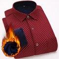 2016 novos homens camisa ocasional inverno quente camisas de manga longa com espessura de veludo qualidade da marca dos homens camisas de vestido xadrez masculino camisas
