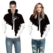 Mr.1991INC Hot Fashion Men/Women 3d Sweatshirts Print Spilled Milk Space Galaxy Hooded Hoodies Thin Unisex Pullovers Tops
