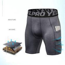 5 цветов, мужские Компрессионные шорты размера плюс, 2 боковых кармана, быстросохнущие спортивные Леггинсы, ультра широкий пояс с буквами, термобелье Runnin
