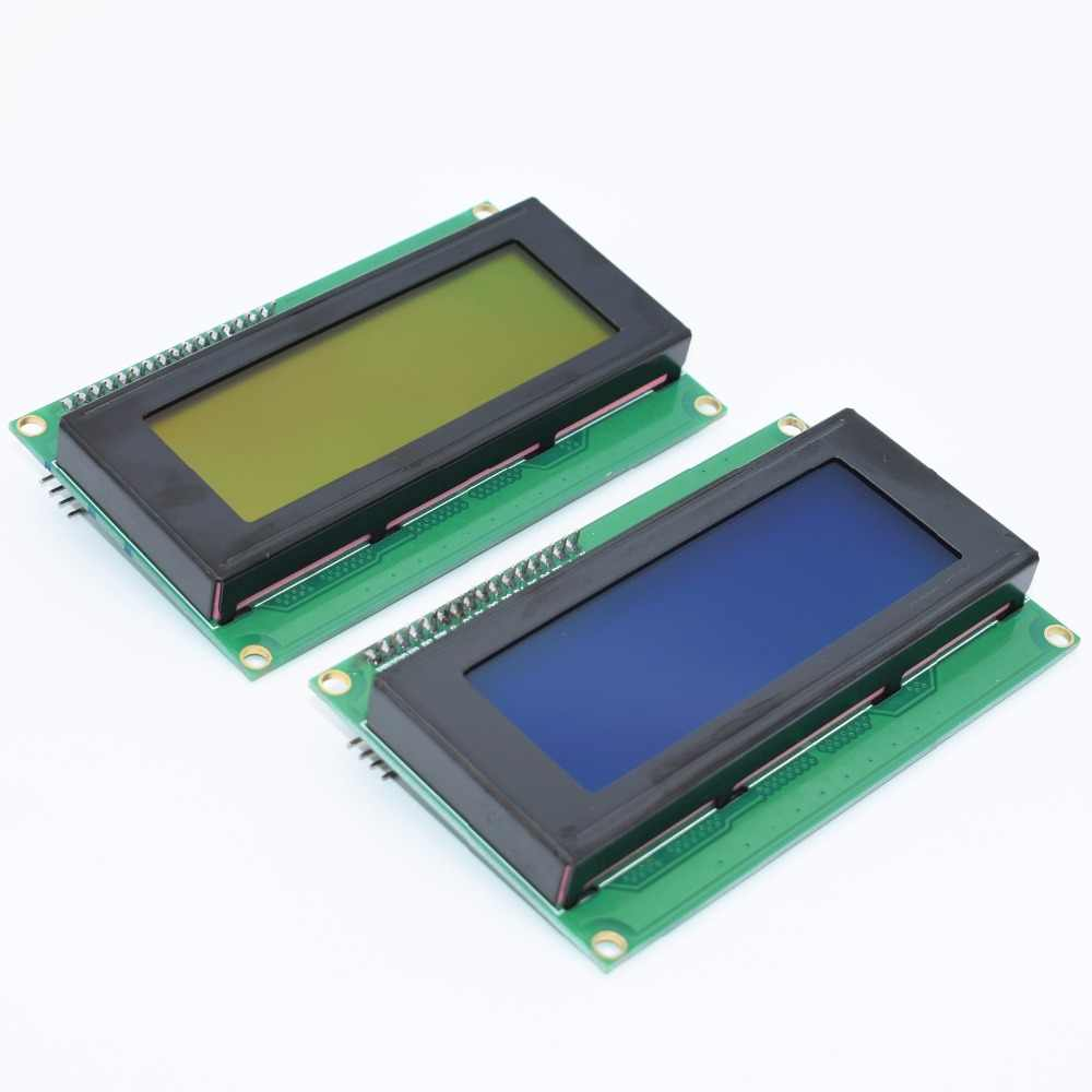 1lot = 1pcs 2004 20x4 20*4 blue or Yellow green screen LCD module + IIC I2C Serial spi Interface Adapter