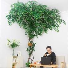 Искусственное растение Набор Свадебные украшения ландшафтный дизайн сухая искусственная Виноградная лоза деревья Зеленый тростник украшение интерьера зеленое растение