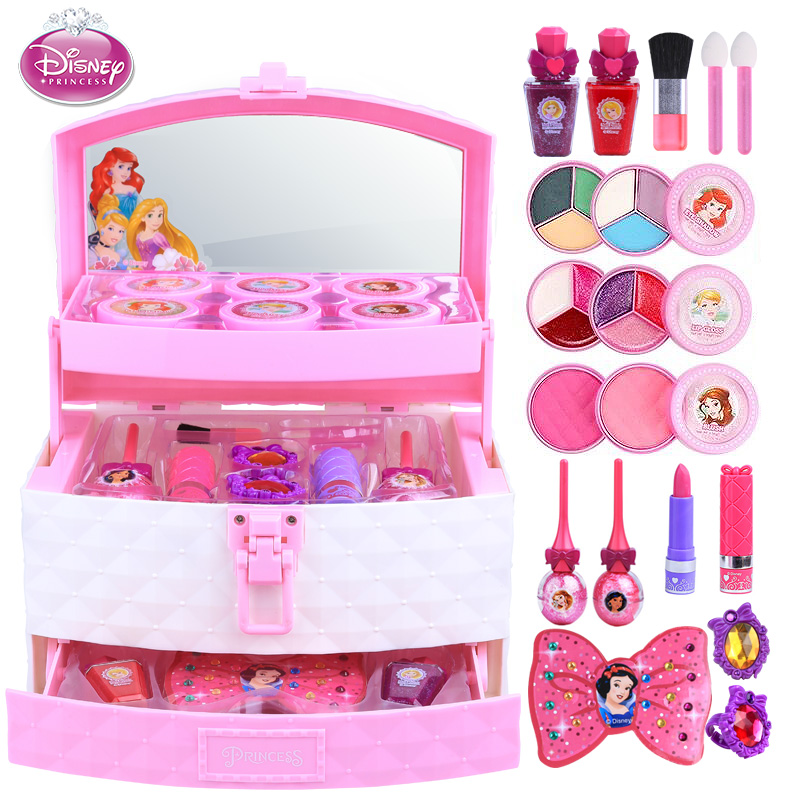 Disney pretend play Beauty Fashion Toys frozen children s cosmetics princess toy makeup box set performance