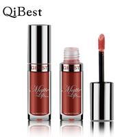 Qibest 6pcs Set Liquid Lipstick Sexy Colors Lip Paint Matte Waterproof Long Lasting Lip Gloss Moisturizer
