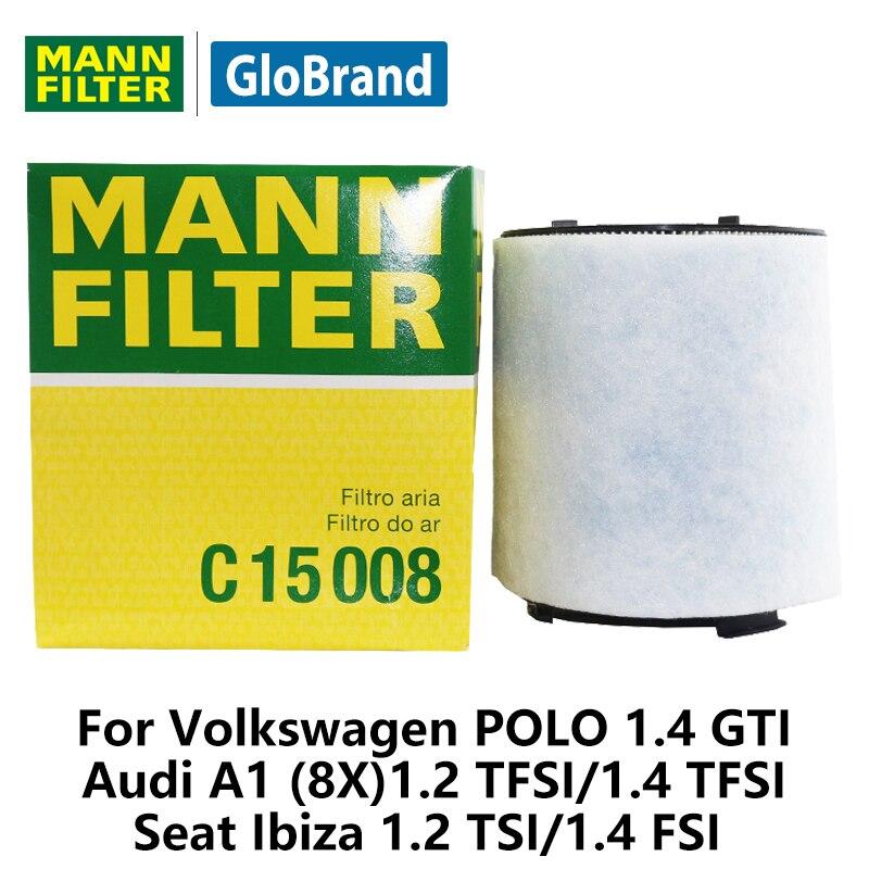ORIGINALE MANN-FILTER FILTRO ARIA AUDI VW SEAT SKODA C 15 008
