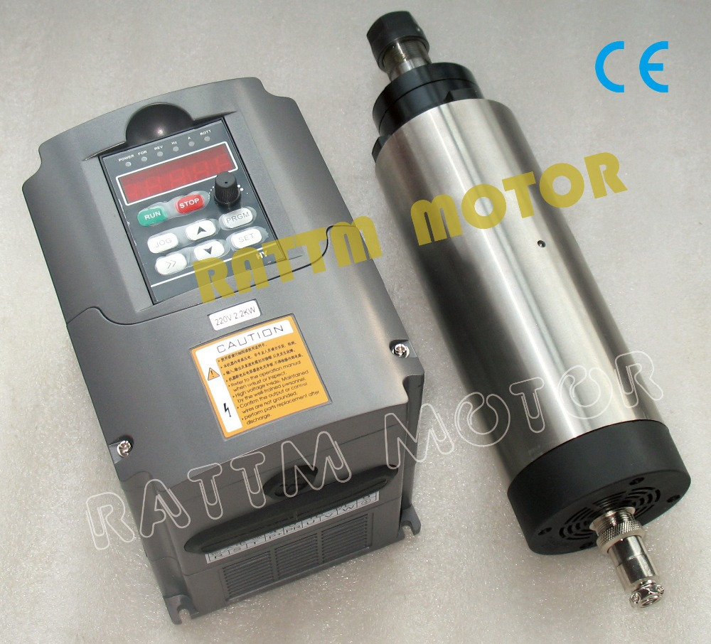 2.2KW Air-cooled 220V spindle motor ER20 24000rpm ...
