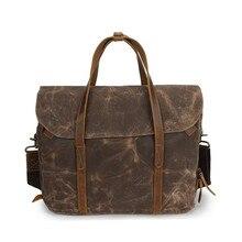 genuine leather Men handbag genuine Business Briefcases bag Cow Crazy Horse Leather messenger Shoulder High capacity Handbags