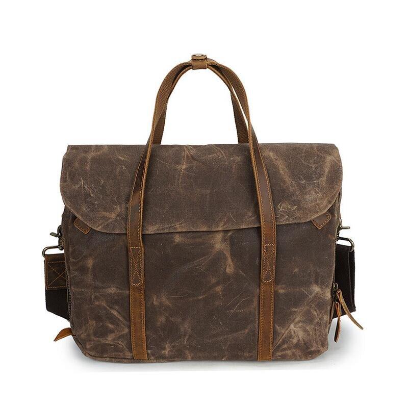 genuine leather Men handbag genuine Business Briefcases bag Cow Crazy Horse Leather messenger Shoulder High capacity Handbags genuine leather