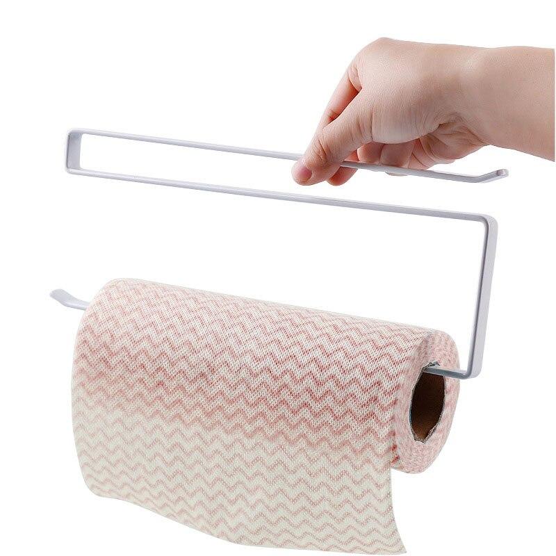 Papierrollenhalter Eisen Farbe Hängen Handtuch Tissue Konservierungsmittel Film Rack Küche Bad Wc Schranktür Haken Halter