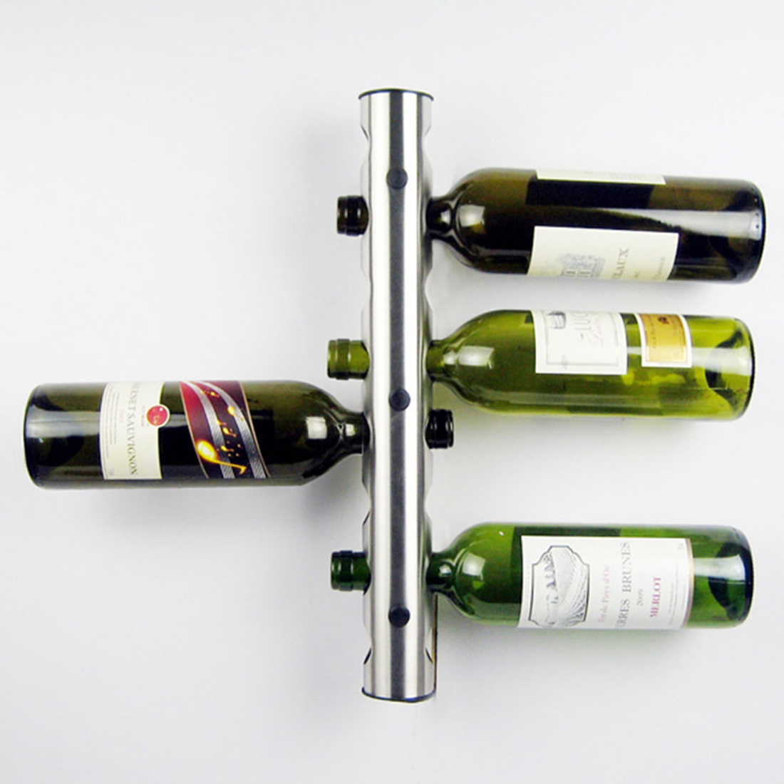 2016 new Creative Wine Rack Holders 8-12 Holes Home Bar Wall Grape Wine Bottle Display Stand Rack Suspension Storage Organizer