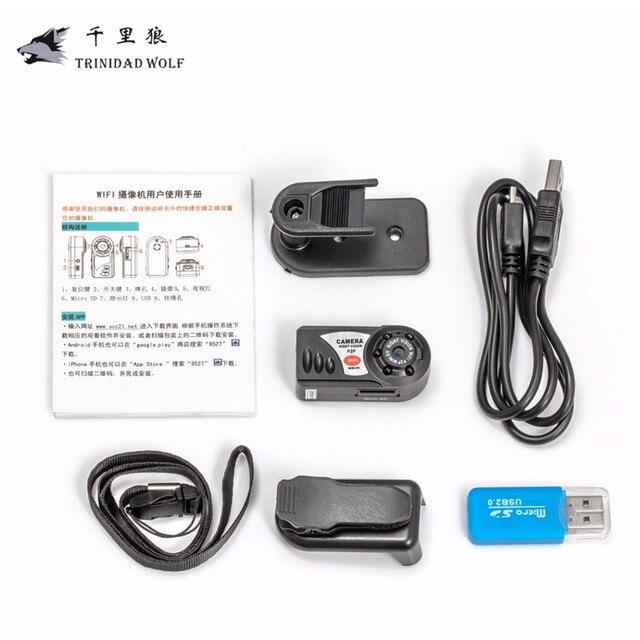 TRINIDAD WOLF Q7 Mini Wifi DVR 720P Wireless IP Camcorder Video Recorder Camera Infrared Night Vision wifi camera