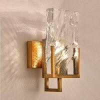 Moderna lâmpada de parede cristal luz luxo irregular sala estar fundo da cama corredor led luz