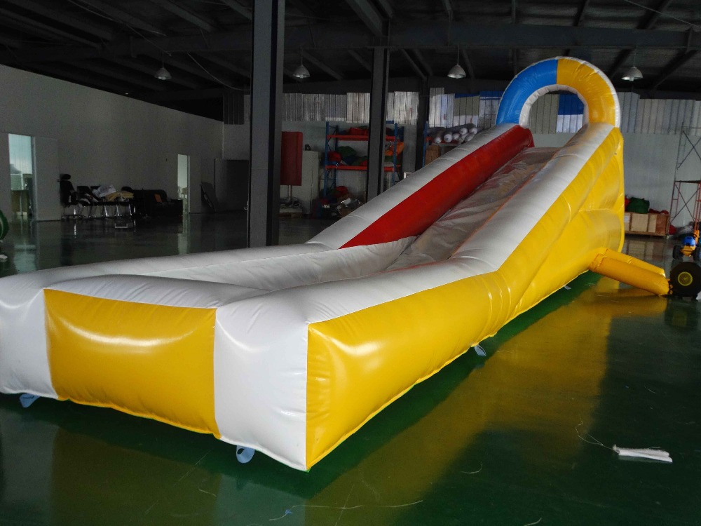 Customized inflatable water slide with pool for kids children shark blue inflatable water slide with blower for pool
