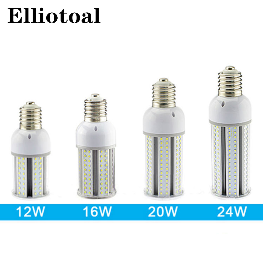 12pcs/lot E27 E40 LED corn light bulb 12w 16w 20w 24w SMD2835 street light pole led lamps led outdoor garden lamp AC85-265V