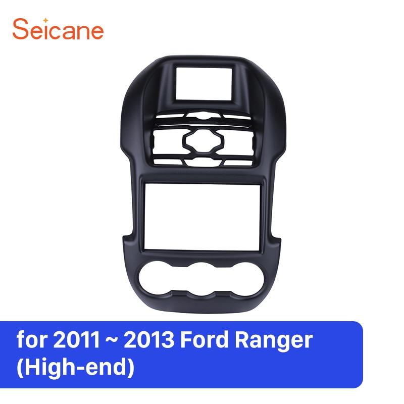 Seicane черный автомобиль радио рамки Фризовая CD плеер плиты Панель крышка отделка комплект приборной панели для Ford Ranger (High конец) 2011 2012 2013