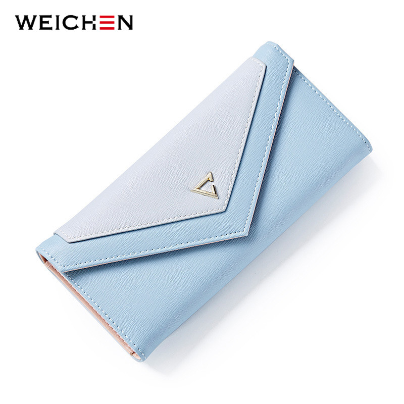 WEICHEN New Geometric Envelope Clutch Wallet For Women, PU Leather Hasp Fashion Design Wallet For Phone Money Bags Coin Purse weichen new geometric envelope clutch wallet for women pu leather hasp fashion design wallet for phone money bags coin purse