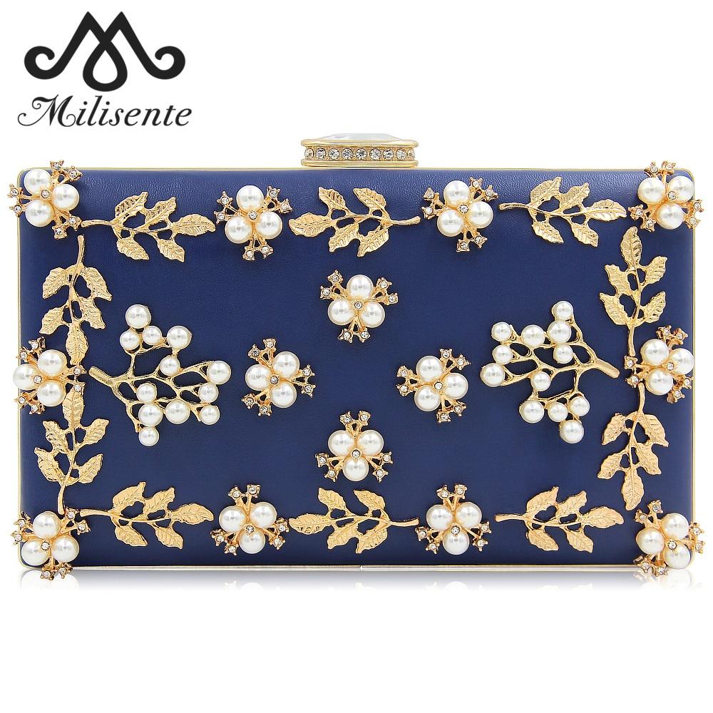 Milisente Women's Shoulder Bag Luxury Designer Diamonds Hasp Flower Bag Crystal Pearl 2019 Ladies Handbags Gift for the New Year
