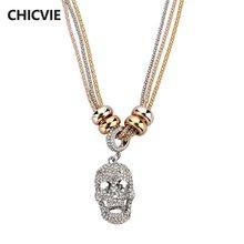 Chicvie ожерелья с хрустальными бусинами и подвеской в виде