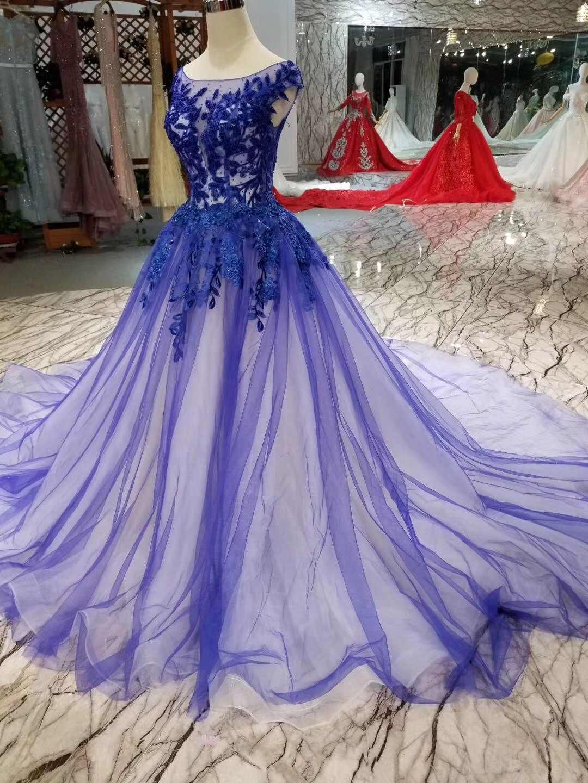 ... Lebanon 2019 Royal Blue Prom Dresses Cape Sleeves Ball Gown Long  Evening Dress Engagement Photos Custom a5eae054725a