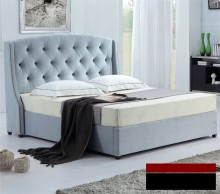 rivet diamond tufted button modern contemporary fabric sleeping bed King size bedroom furniture China