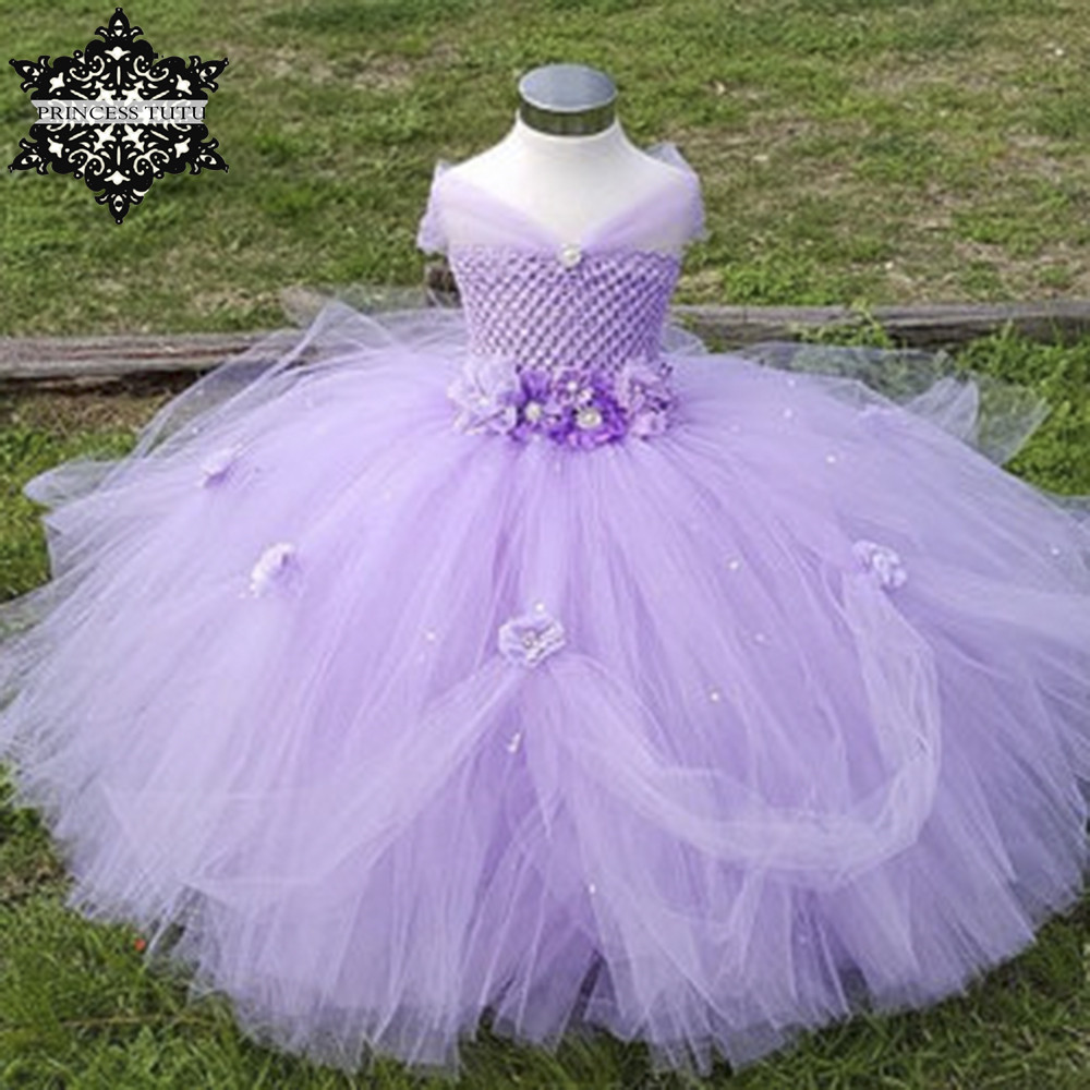 Princess Tutu Tulle Flower Girl Dress Kids Party Pageant Bridesmaid Wedding Tutu Dress Lavender Gown Dress Robe Enfant росмэн самые лучшие наклейки машины и мотоциклы